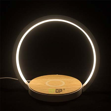 night lamp with wireless charger